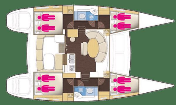 Plan Lagoon 380 Corail Caraibes
