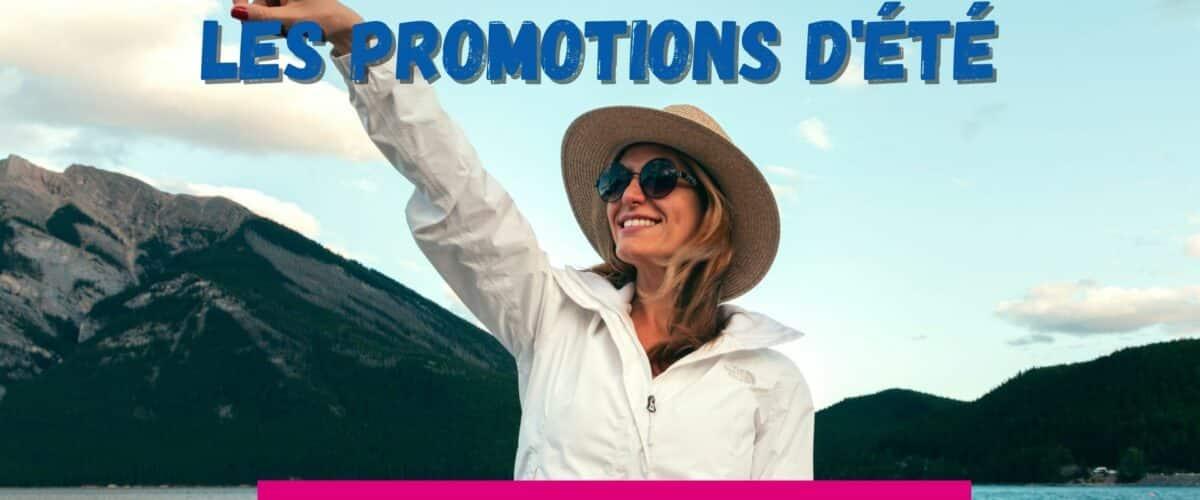 Femme navigation promotion d'été